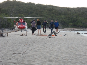 Helicopter rescue on Hinchinbrook