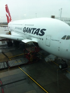 Qantas A380, bound for Dubai