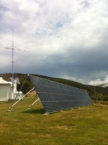 Solar power on Deal Island