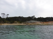 Arriving at the little beach