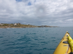 Rounding the island