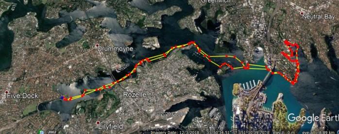 17 April paddling path